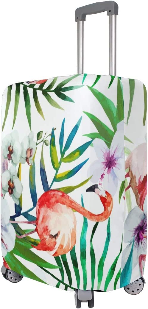 18//22//26//29 Inch Travel Suitcase Luggage Protective Cover with Beautiful Flamingo