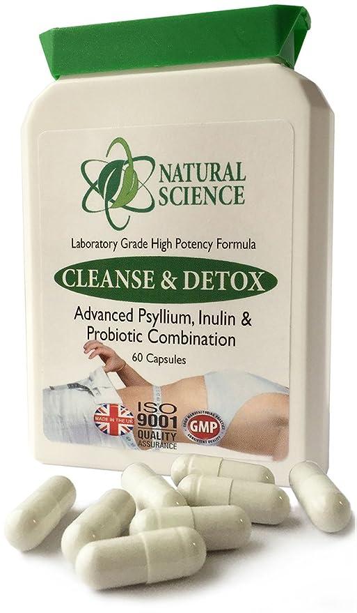 Colon Bowel CLEANSE, DETOX, PROBIOTIC - combinación ideal; psyllium, probiótico - fuerte pero suave Psyllium cleanse - MÁS 3 mil millones de bacterias ...