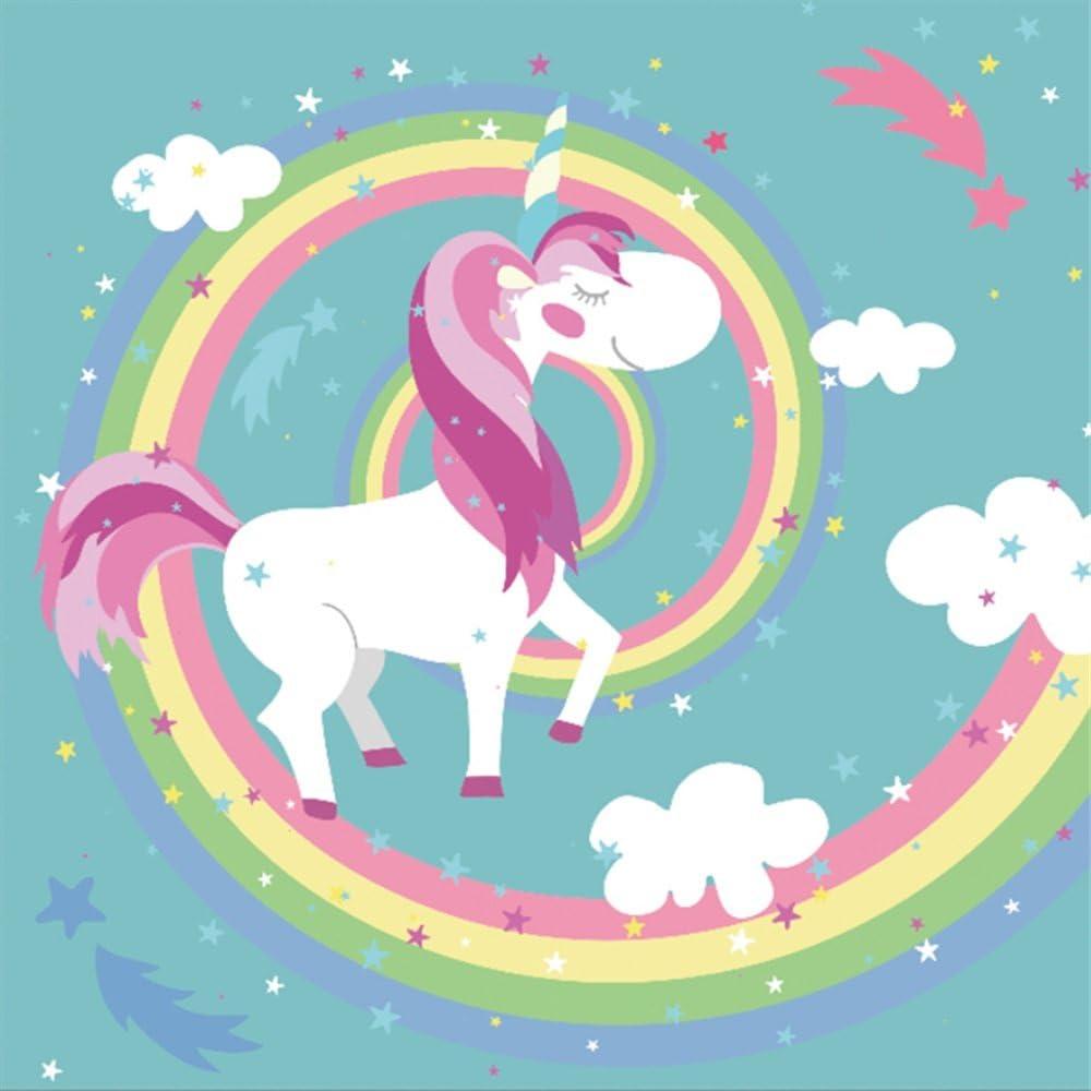Unicorn Party Backdrops 6×6 Ft