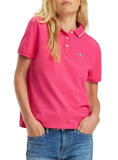 Tommy Jeans Polo Classics Rosa Mujer L Rosa: Amazon.es: Ropa y ...
