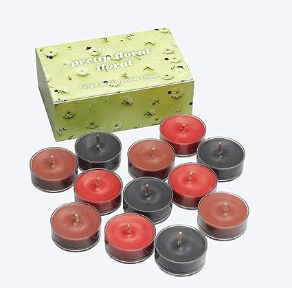 PartyLite - Velas de hornillo (12 Unidades), diseño Floral ...