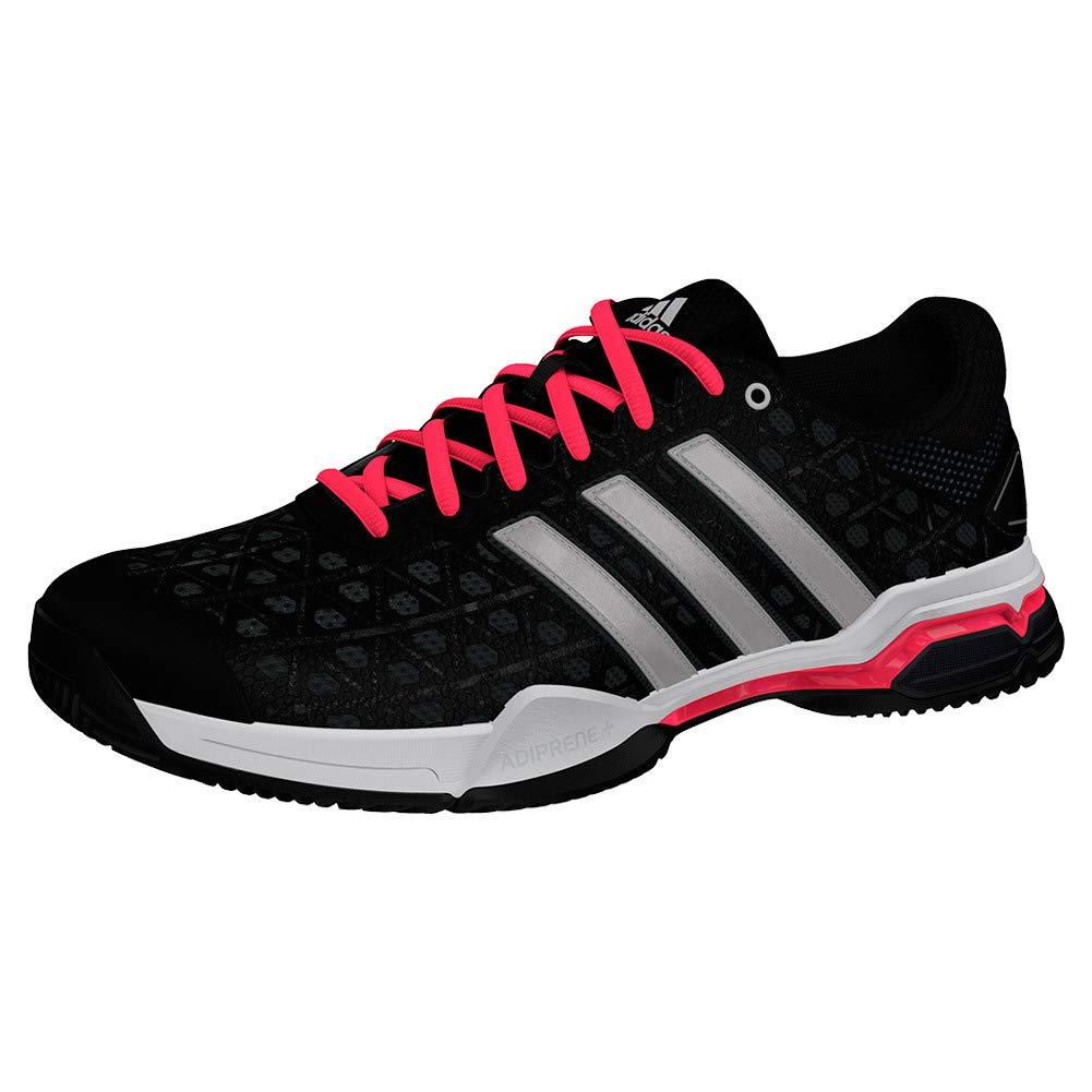 Core Black Silver Metallic Flash Red Adidas Men's Barricade Club Tennis shoes White