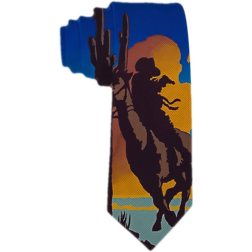 Hombres S Corbata Vaquero Paseo Caballo y pistola Corbata de seda ...