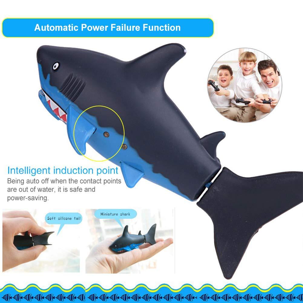 Dilwe Mini RC Tiburón, Peces de Tiburón Eléctrico de Control Remoto Juguete de Agua con Cable USB: Amazon.es: Juguetes y juegos