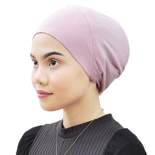 Silk Story Sophie Cotton Lycra Bonnet Turban Under Scarf Shawl Wrap Hijab Chemo Wear Hair Loss