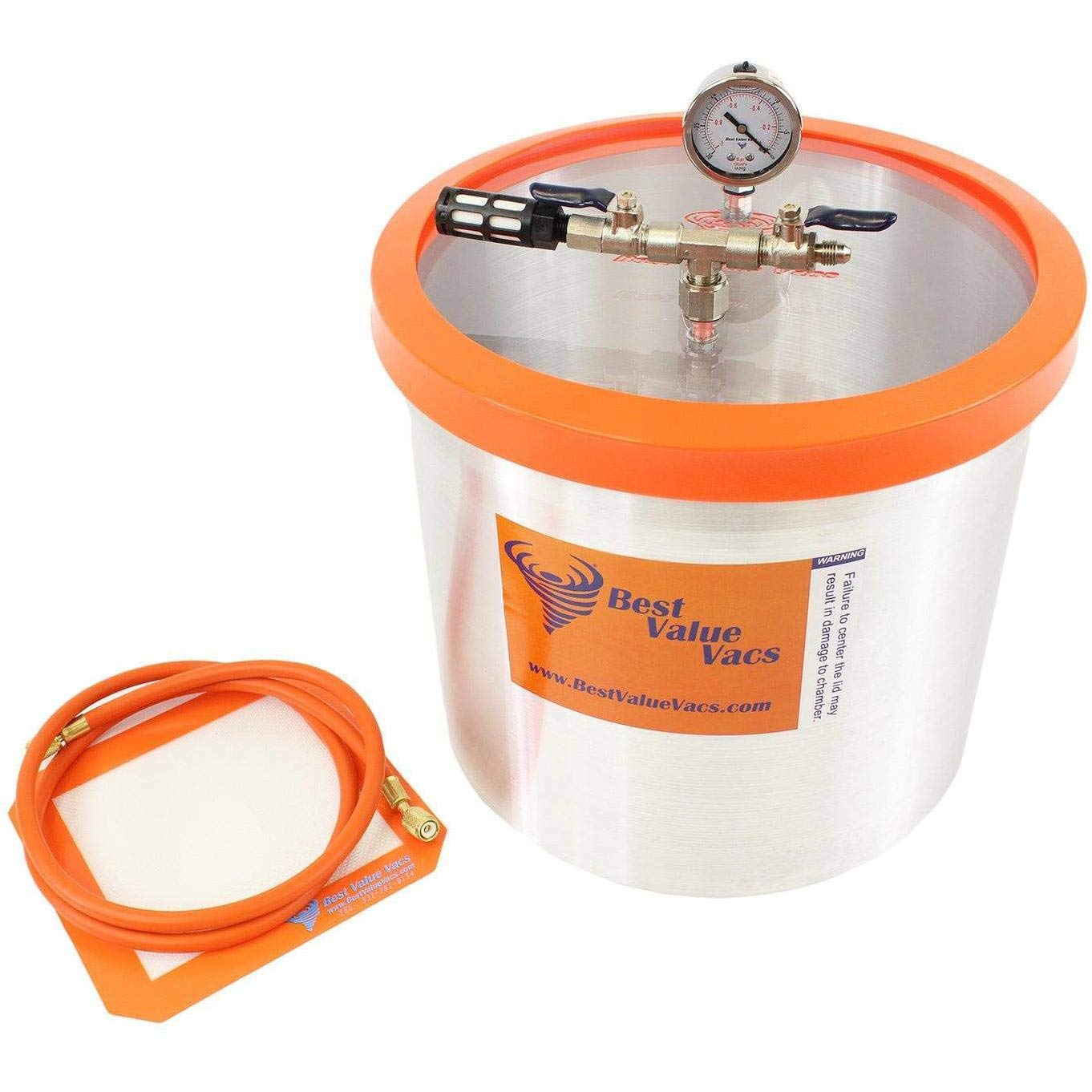 Best Value Vacs 5 Gallon Aluminum Vacuum Chamber