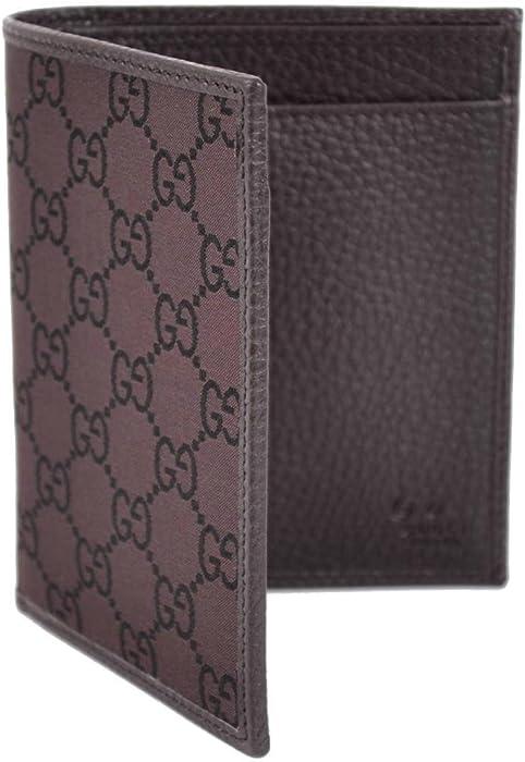 00a92ec685ff27 Gucci 292533 Men's Canvas GG Guccissima Tall Bifold Wallet O/S Brown
