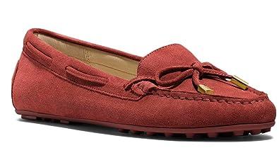 004852732c4de Amazon.com: Michael Kors Daisy Moc Red Brick 11M Suede Leather Flats ...
