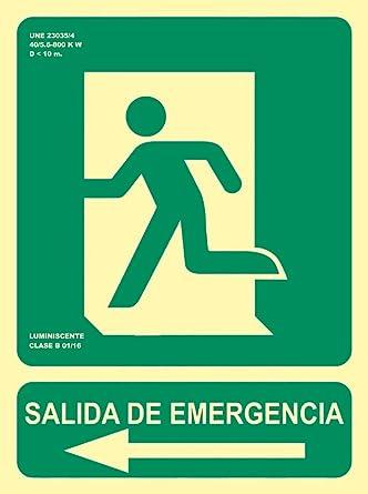 MovilCom® - Señal luminiscente SALIDA EMERG FLECHA IZQUIERDA ...