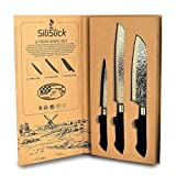 SiliSlick Embossed Blades 3 pc Knife set. Built for toughness and power. Smooth, ergonomic handle helps slice evenly with precision. Review