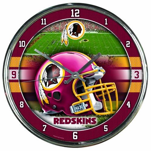 Washington Nationals Clock (NFL Washington Redskins Chrome Clock, 12