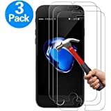iPhone 7 Plus Screen Protector, iPhone 8 Plus Screen Protector,Yoyamo 3 PACK Tempered Glass Screen Protector Clear 3D Touch Screen Protection Case for iPhone 8 Plus,iPhone 7 Plus
