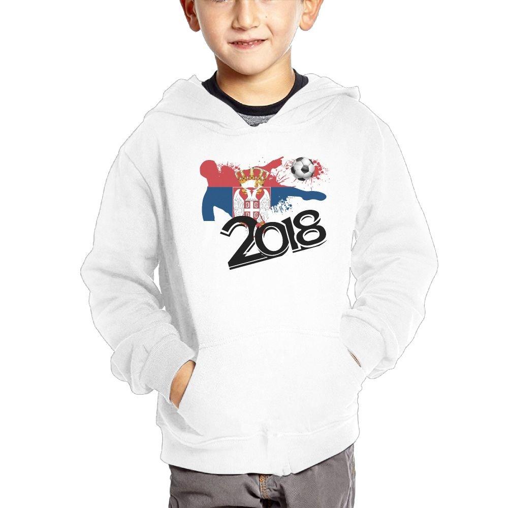Small Hoodie 2018 Football Match Serbia Boys Casual Soft Comfortable Sweatshirts Kangaroo Pocket Hoodies