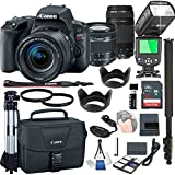 Canon EOS Rebel SL2 With 18-55mm f/4-5.6 IS STM + 75-300mm f/4-5.6 III + 32GB Memory + Camera Bag + TTL Speed Light + Pro Filters,(23pc Bundle)