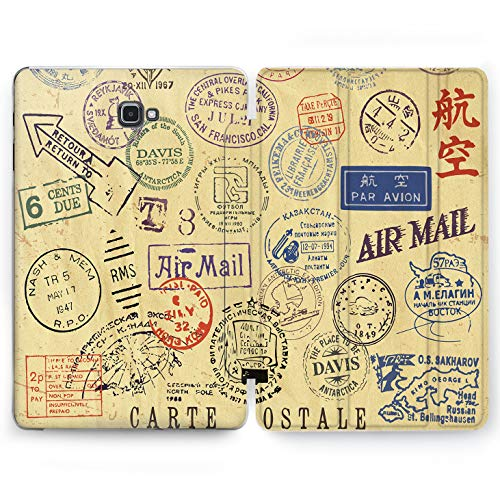 Wonder Wild Mail Posts Samsung Galaxy Tab S4 S2 S3 A E Smart Stand Case 2015 2016 2017 2018 Tablet Cover 8 9.6 9.7 10 10.1 10.5 Inch Clear Design Air Delivery Service Envelope Stamps Watermark Trip