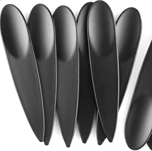 Little Bean 50 PCS Medium Weight Wrapped-Plastic Taster Spoon   Dessert Spoon   Caviar Spoon   Disposable Plastic Spoon, For Party Time, Free Samples, And Multiuse Use Cases