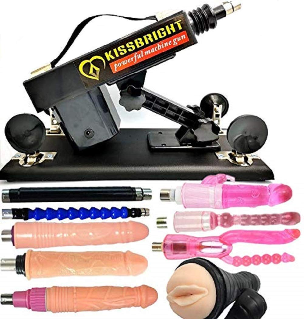 Female Style Retractable Machine Gun Automatic Adult Toys Multispeed Adjustable Thrusting with 7 Attachments