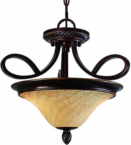 Golden Lighting 8106-SF CDB Torbellino Semi-Flush Pendant, 17-1 4-Inch W by 16-Inch H, Cordoban Bronze