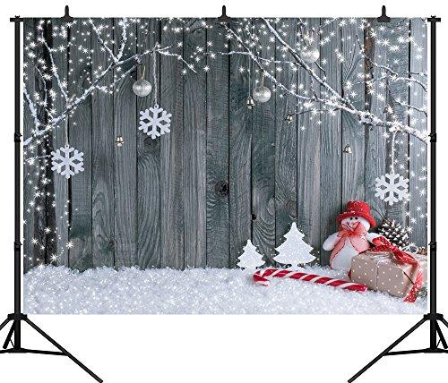 DePhoto 9x6Ft Seamless Christmas Theme Vinyl Photography Backdrop Photo Background Studio Prop SDJ002KB