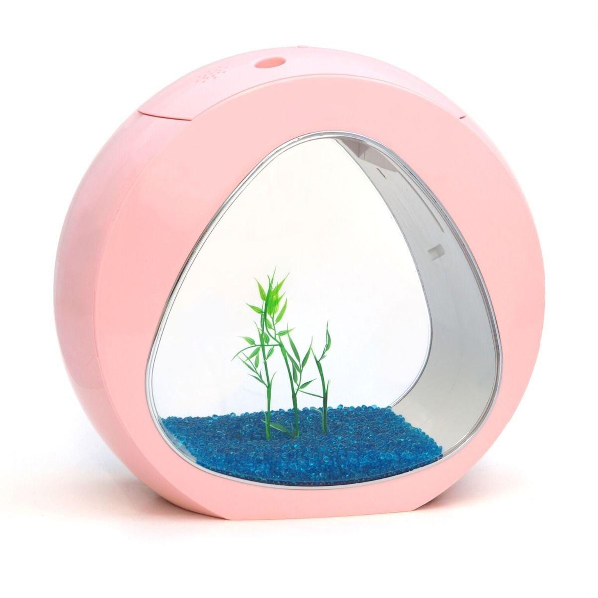 sun sun Kit Acuario diseño Circular 6 litros Rosa: Amazon.es: Productos para mascotas