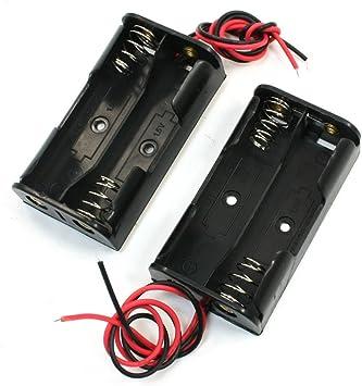 Soporte de la batería eléctrica caja de la caja de cable 2 x 2 unidades 1.5V AA: Amazon.es: Electrónica