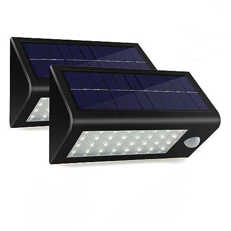 Focos Led Exterior Con Sensor de Movimiento Impermeable Lamparas Solares Energia Solar con Mutiple Motos Focos