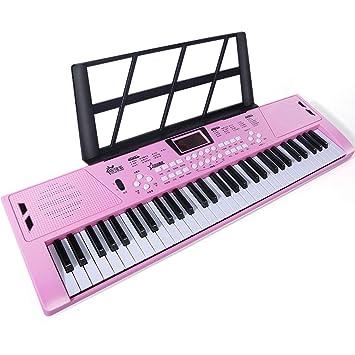61-Key Teclado para Niños Juguetes Educativos Principiantes Principiantes Instrumento Musical Piano Tres Colores Opcional