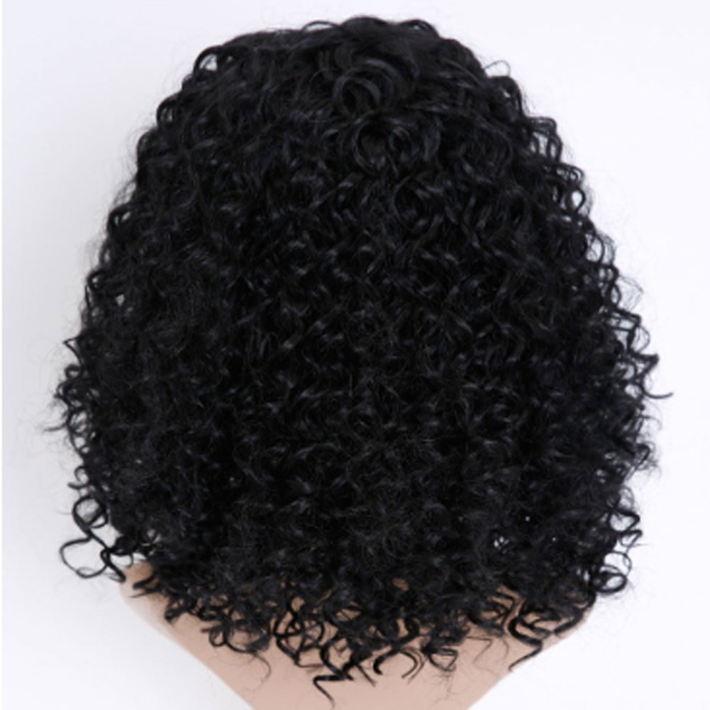 Amazon.com: YJIUJIU Curly Short Wigs, Women Girls Hair Wig Full Heat Resistant Charming Cosplay Costume Synthetic Wigs (Black): Sports & Outdoors