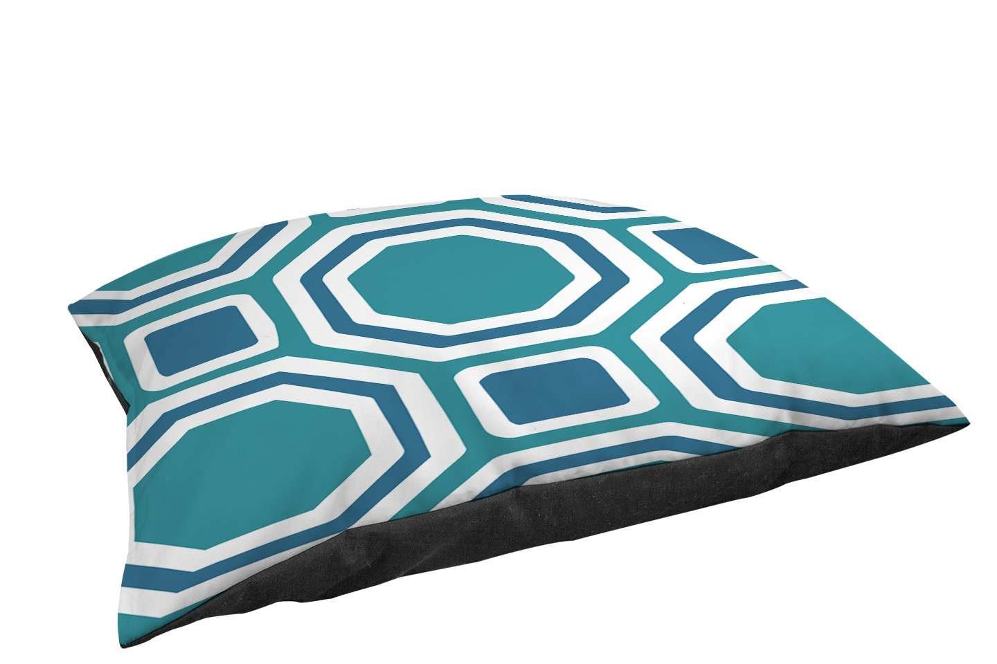 Manual Woodworkers & Weavers Fleece Top Toy or Small Breed Pet Bed, Honeycomb Connection, Blue