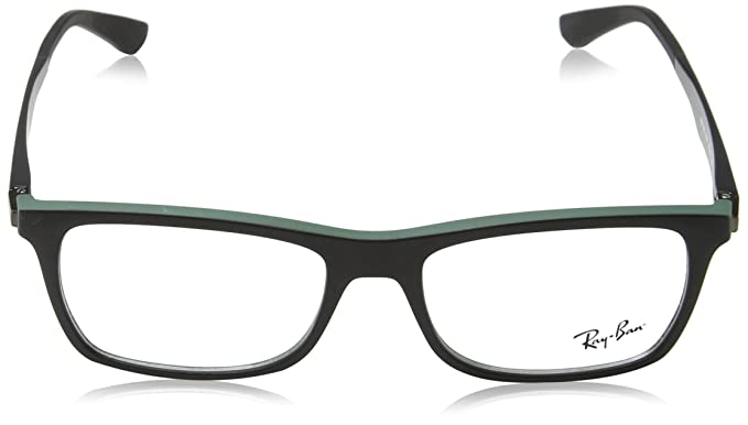 aeaf315430709 Ray-Ban 0rx 7062 5197 55 Monturas de gafas Black Top on Green Hombre   Amazon.es  Ropa y accesorios