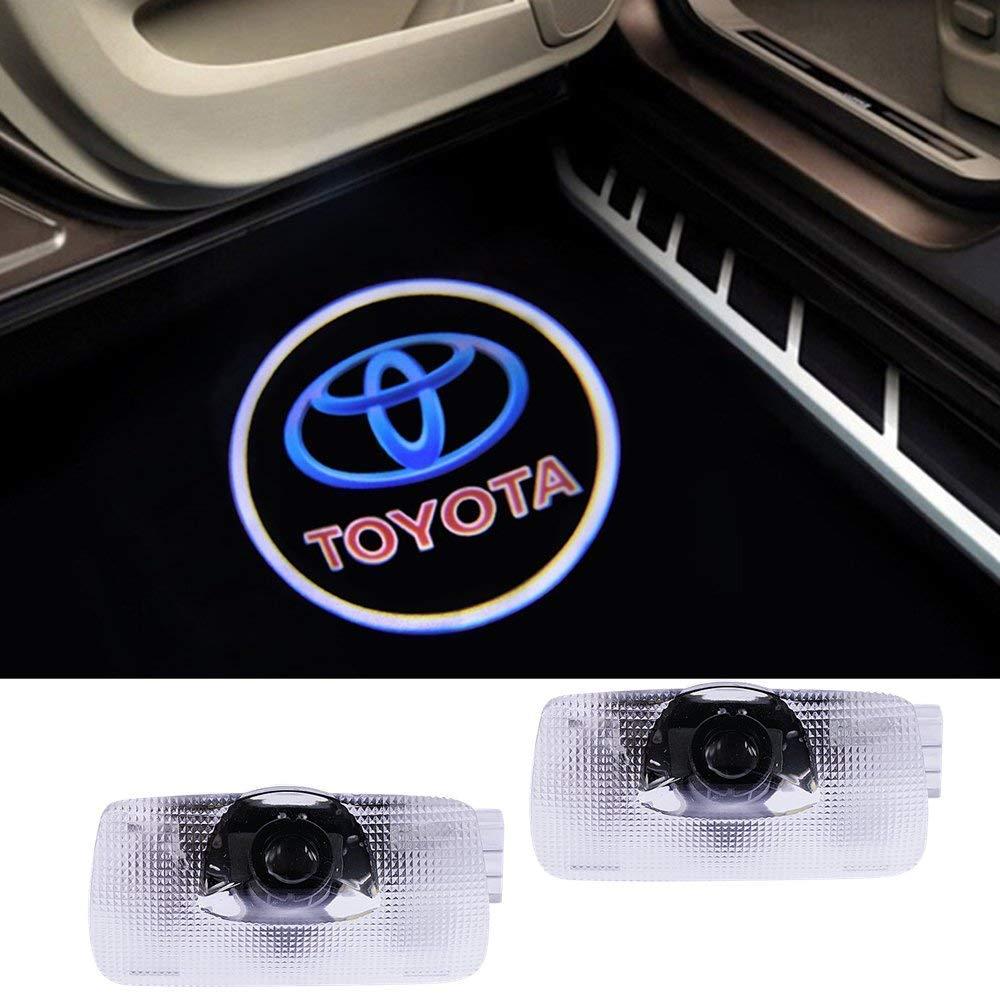 4 Pack Car LED Door Logo Ghost Shadow Projector Laser Welcome Lights Symbol Emblem Courtesy Step Lights Ground Lamp Kit for Audi Series KANGQP
