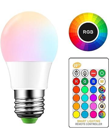 ONEVER 5W RGB Bombilla LED E27 Cambio de color atm¡§sfera de iluminaci¡