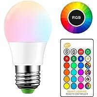 ONEVER 5W RGB Bombilla LED E27 Cambio de color atm¡§sfera de iluminaci¡§n LED Fade Mode l¡§?mpara estrobosc¡§pica flash…