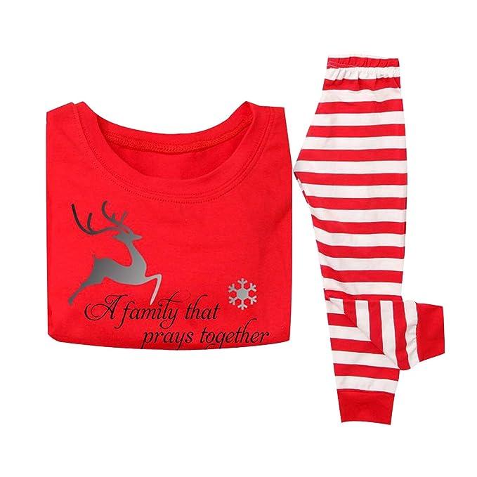 7b5345d3a Pijamas Familiares Navideñas Pijama Reno Navidad Familia Conjuntos  Navideños Mujer Niños Niña Hombre Trajes para Navidad