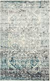 Cheap Area Rug Vintage Blue 5′ x 8′ FT St. John Collection Rugs – Inspired Overdyed Carpet