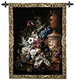 Fine Art Tapestries Fleur Du Siecle Wall Tapestry 1414-WH 38 inches wide by 53 inches long, 100% cotton