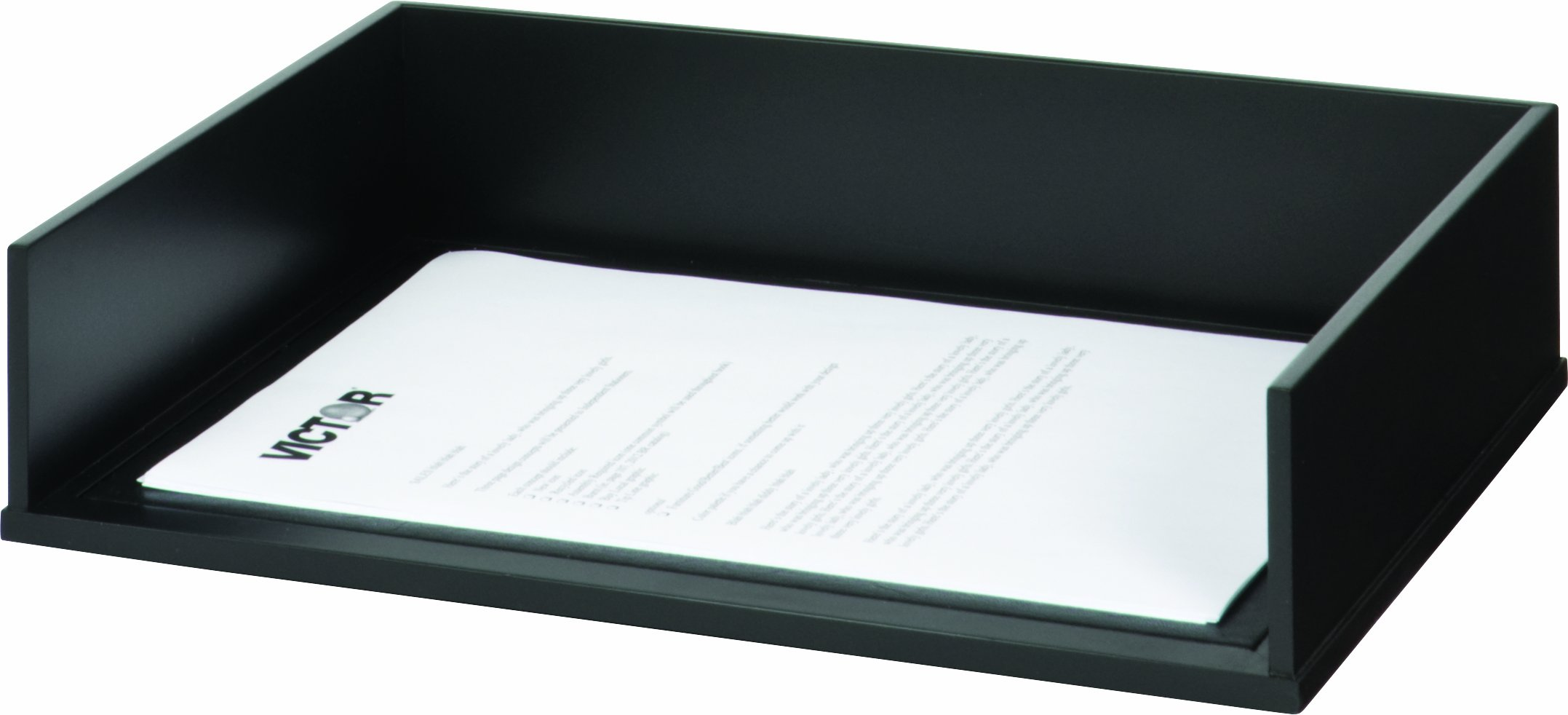 Victor Wood Stacking Letter Tray, 1154 (Single) (Black)