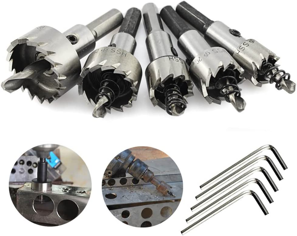 HSS Hole Saw Drill Bits Stainless Steel Metal Holesaw Reaming Drill 114mm