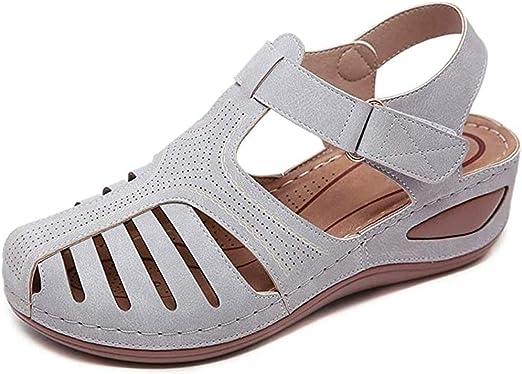 ONEYMM Comfy Women Wedge Sandal Strap