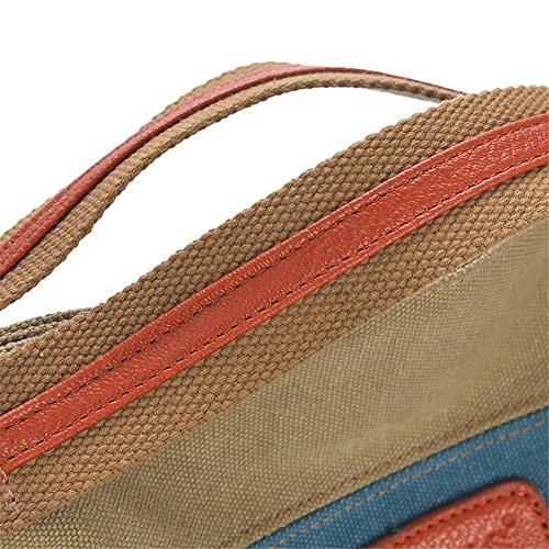 Color Handle Body Girl Multicoloured Tote Women's XMLiZhiGu Canvas Multi Retro Shoulder Bag Handbags Top Shopper Cross 2 xEx4q0I