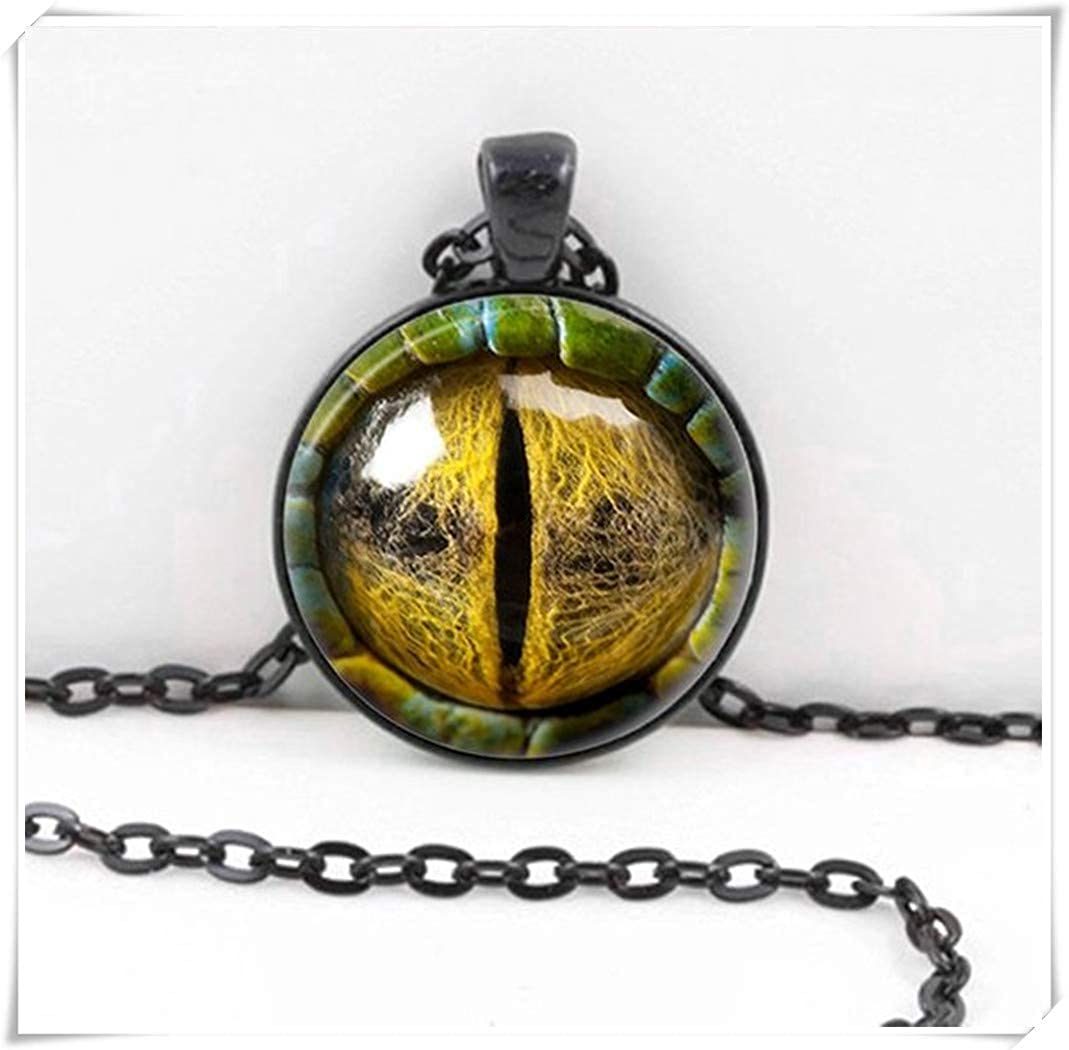 Dragon Eye Necklace, Dragon Eye Pendant ,Dome Glass Ornaments, Hand-Made wish dandelion