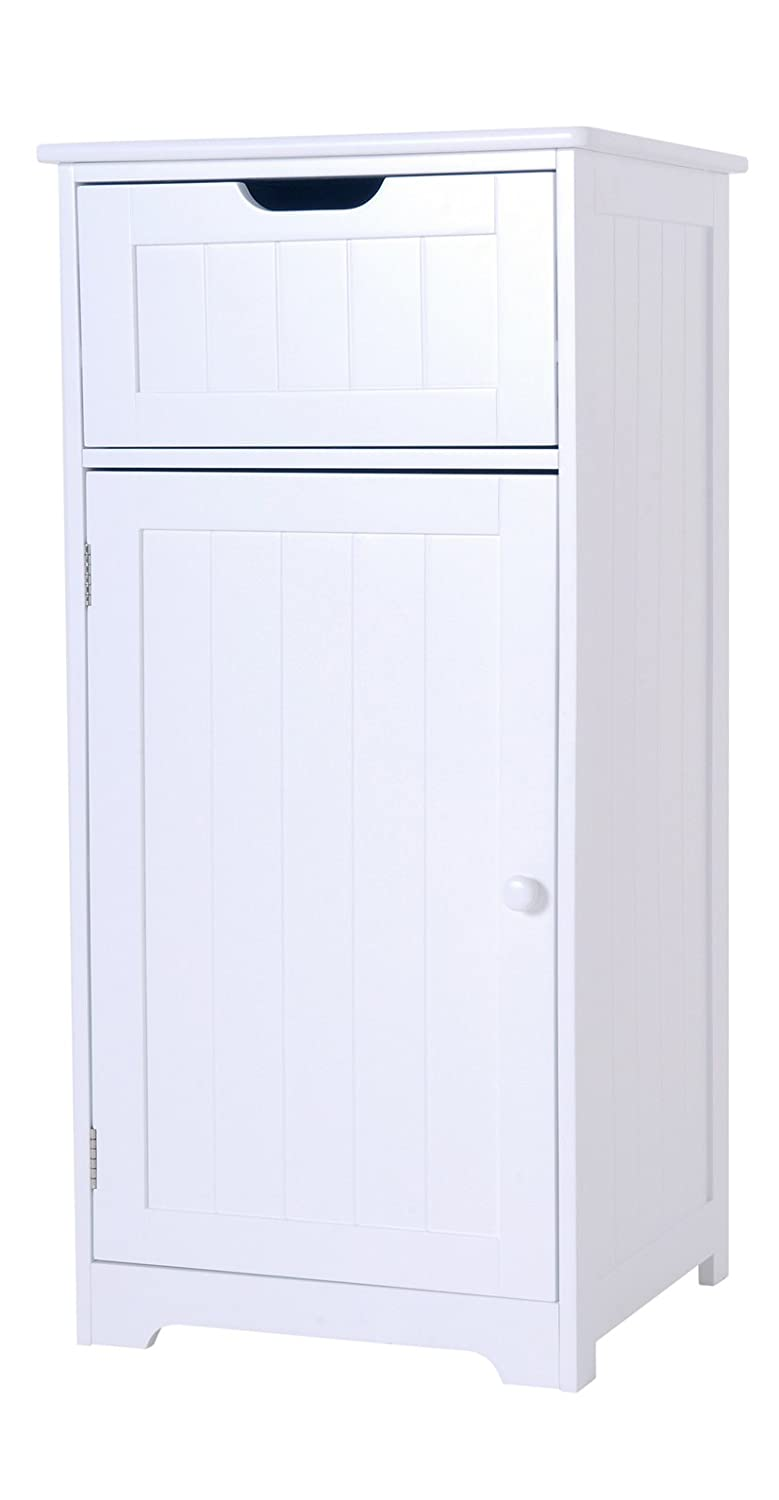 Elegant Brands Bathroom Cabinet, Wooden, White, 83cm H x 40cm W x 36cm D IW-46068CO