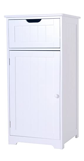 bathroom storage one drawer and cabinet white wooden and inspired