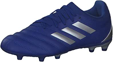 Adidas Copa 20.3 FG J Shiny Heel Counter Lace-Up Football Shoes for Boys - Blue and Silver