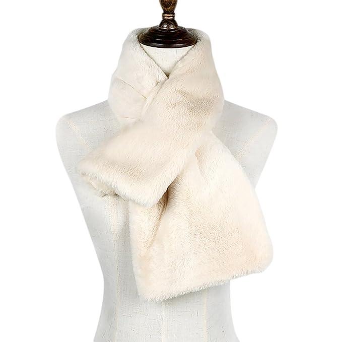 Ya Jin Cuello de la bufanda del abrigo del cuello de la piel sintética de las mujeres de para el abrigo de invierno: Amazon.es: Ropa y accesorios