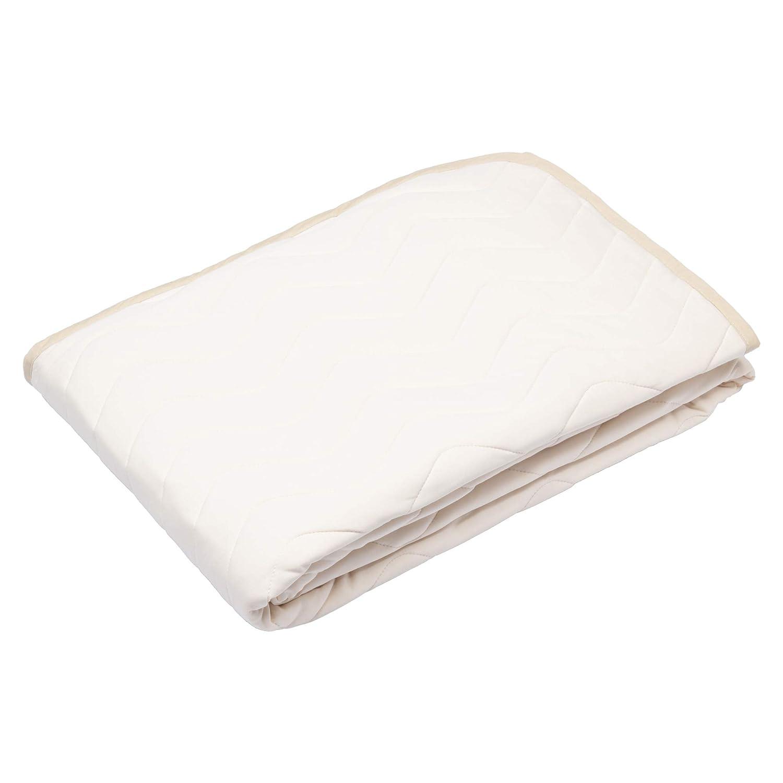 西川産業 やさしいクール敷きパッド ベージュ シングル ボーテ 無地 綿100% 日本製 凹凸敷布団対応 接触冷感 PM09100095BE B07N115XYB ベージュ