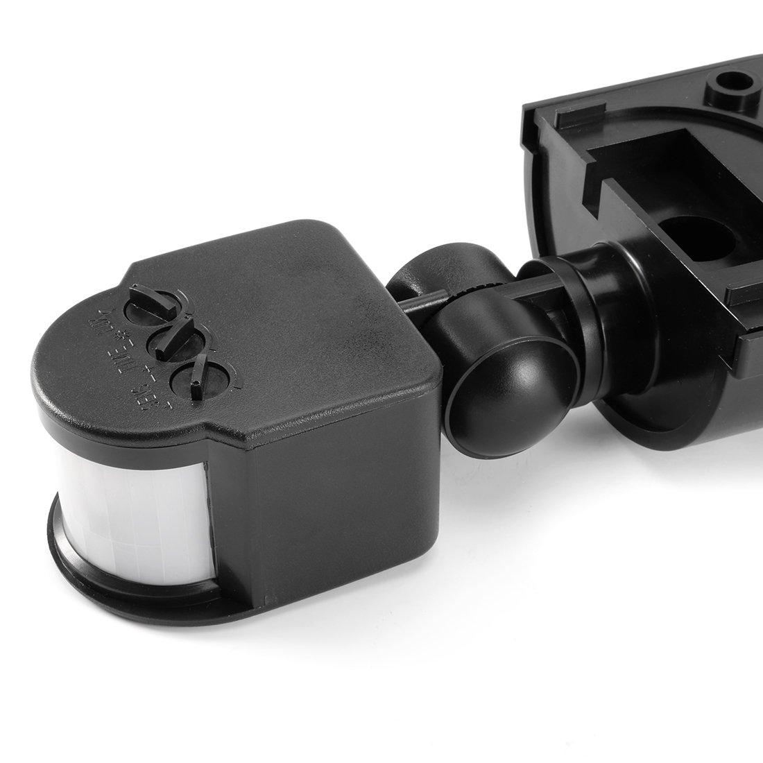 uxcell Motion Sensor Switch AC 110V-240V Outdoor Adjustable Infrared on