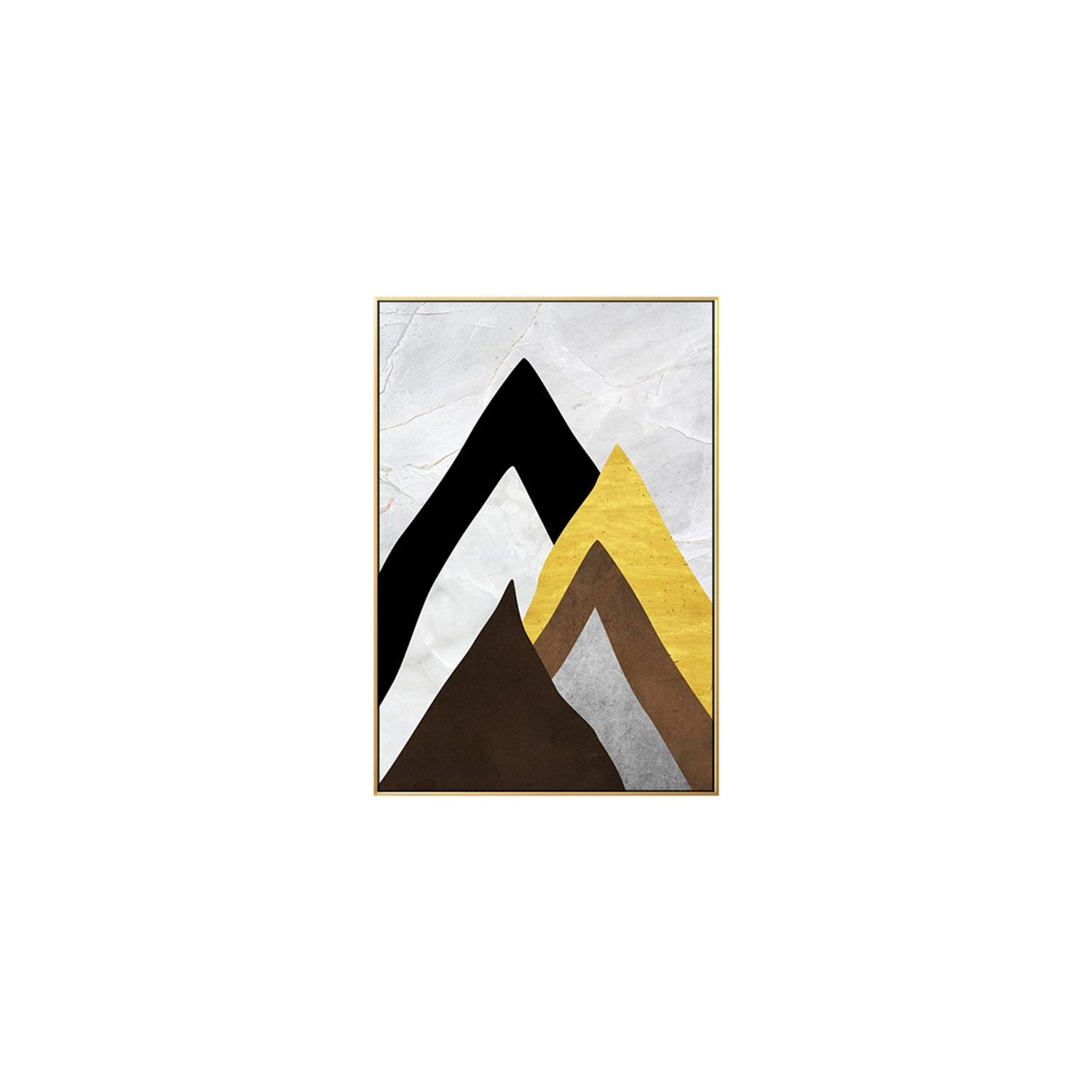 Amazon.com: Abstract Gold Scenery Mountain View Color Blocks ...