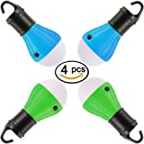 LED Lantern Tent Camping Light 4 Pack Viewpick Portable LED Tent Lamp Emergency Light Bulb Battery Operated 3 Mode Night Light for Backpacking Hiking Fishing Shed Playhouse Indoor Outdoor Activities