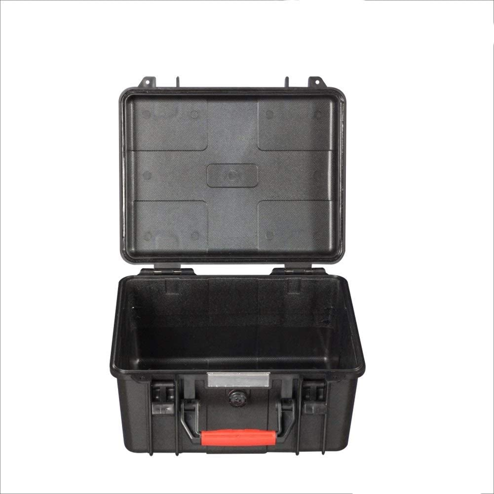 Equipment Protective Case Engineering ABS Material Waterproof Hard Case Hard Case Safety Protection Box Accessories Multi-Function Storage Box Color : Black